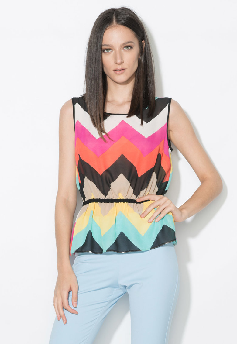 Top multicolor transparent cu model in zigzag Zee Lane Collection