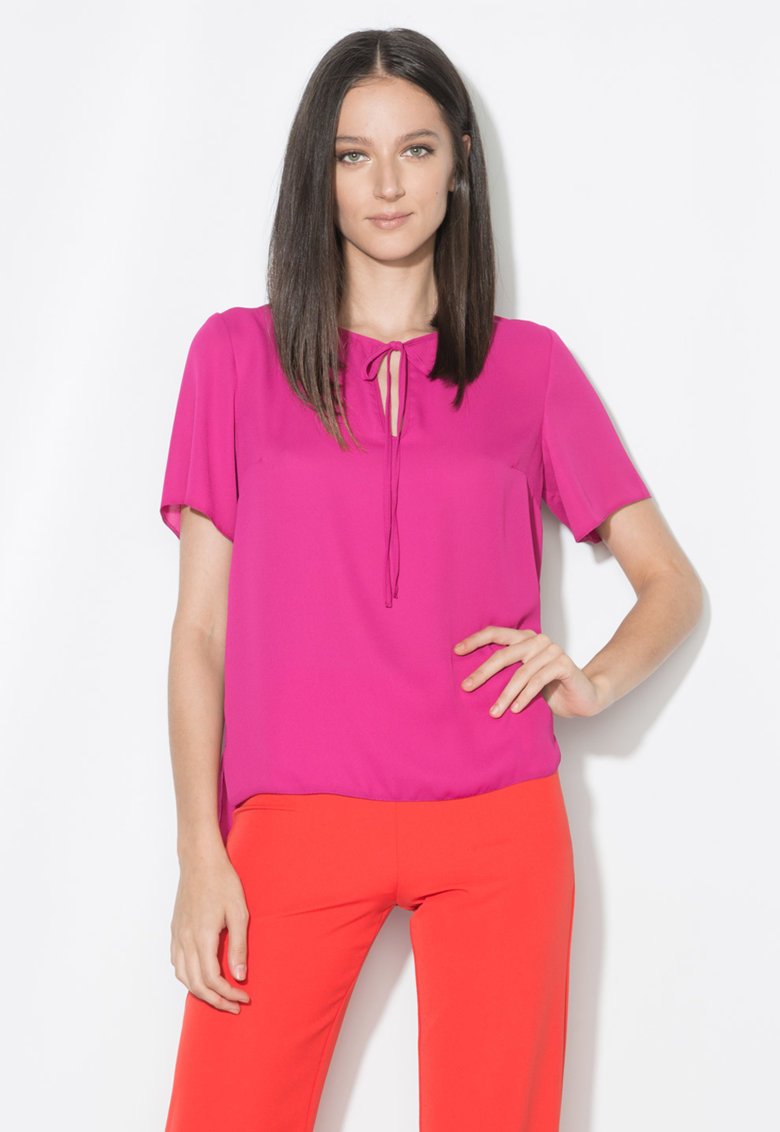 Zee Lane Collection Bluza fucsia cu croiala lejera