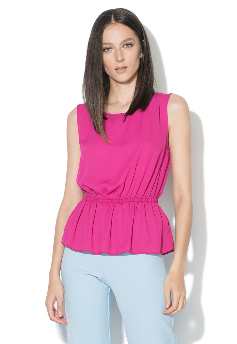 Zee Lane Collection Top fucsia cu insertie elastica