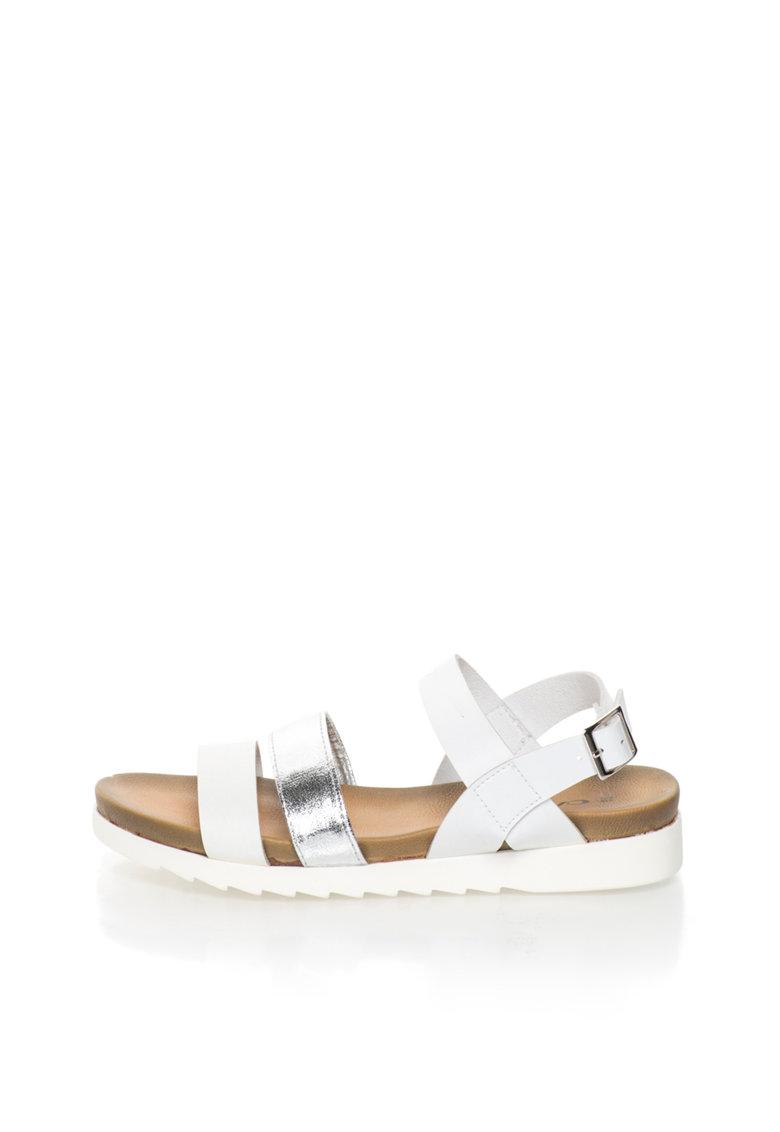 Oakoui Sandale alb cu argintiu Carima