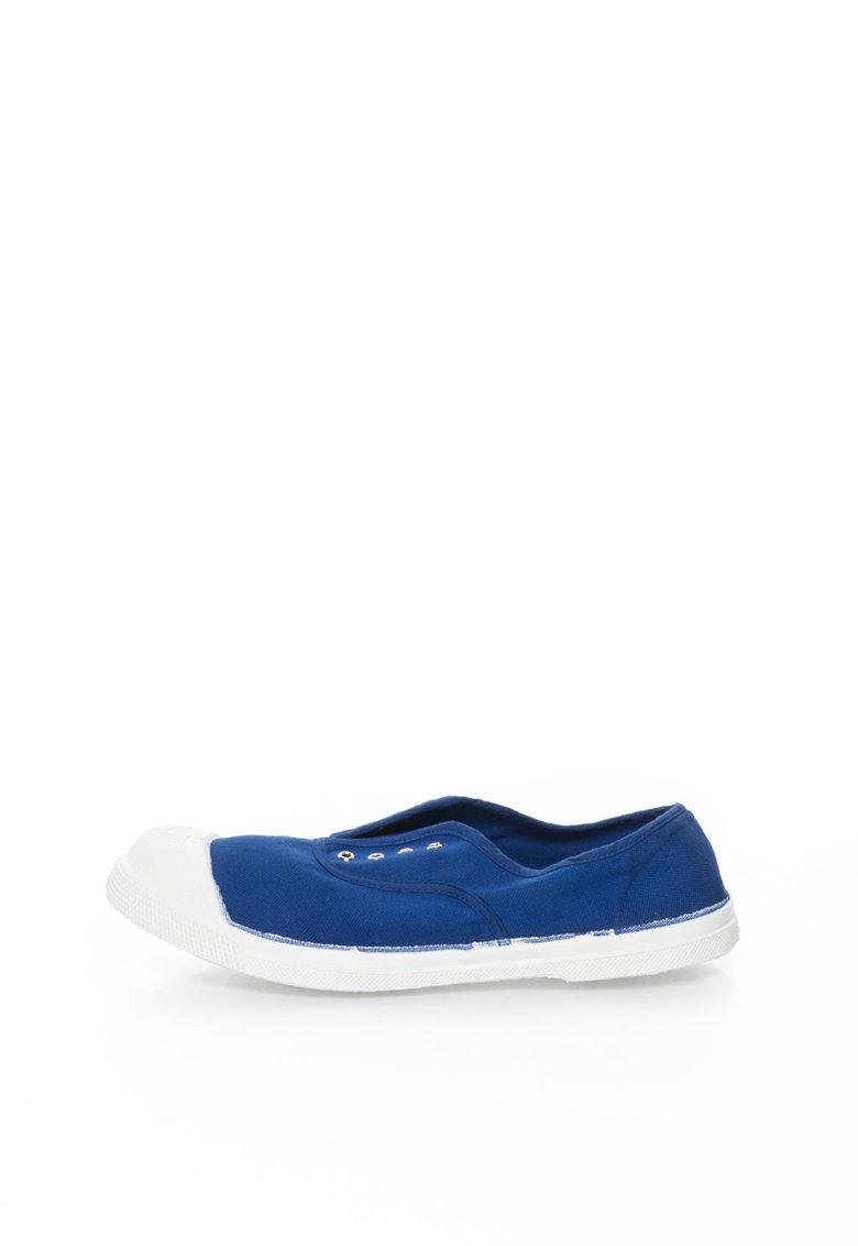 Bensimon Pantofi slip-on albastri din panza