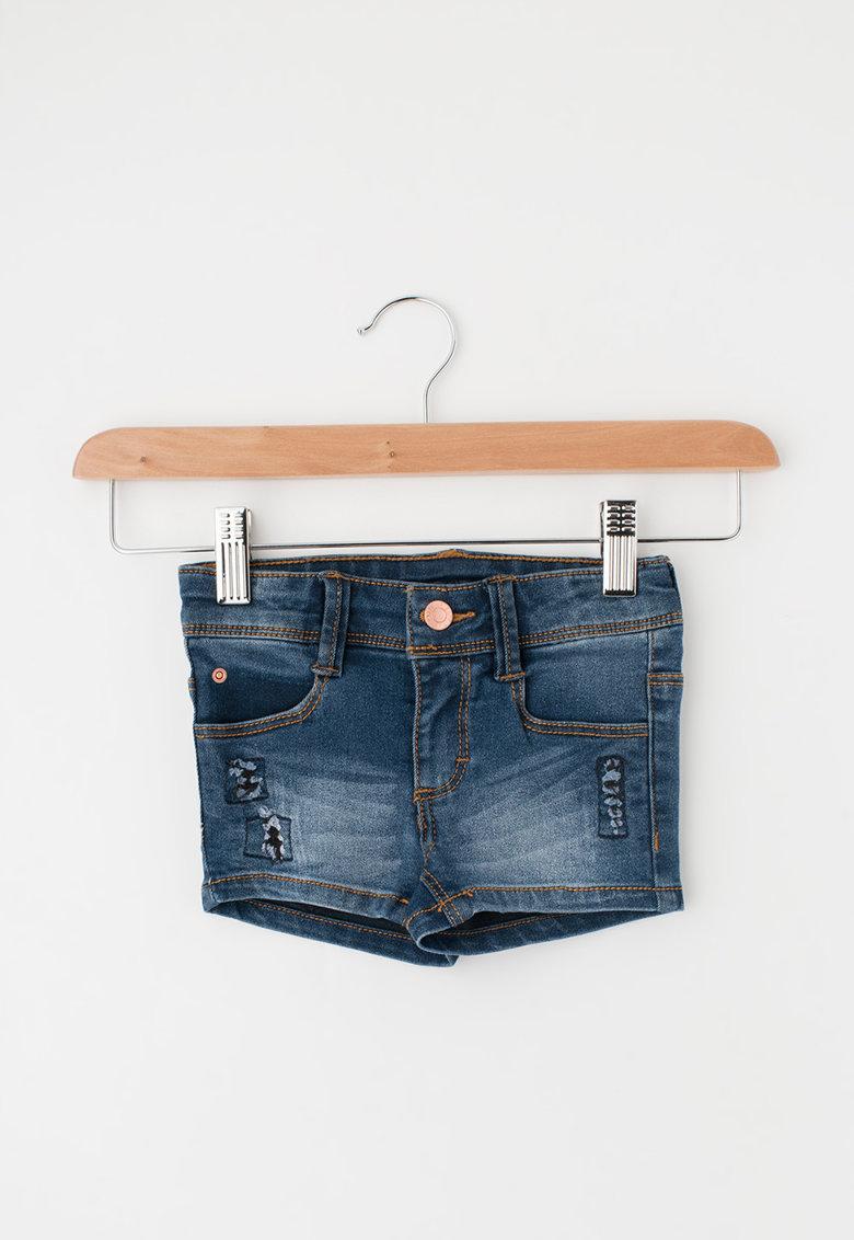 Pantaloni scurti slim fit albastri din denim de la Esprit