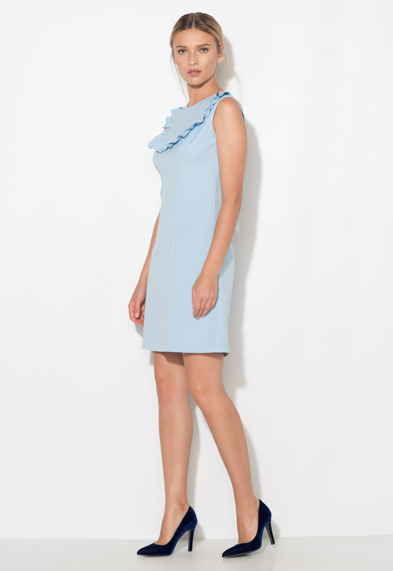 Rochie bleu cu volane Zee Lane Collection