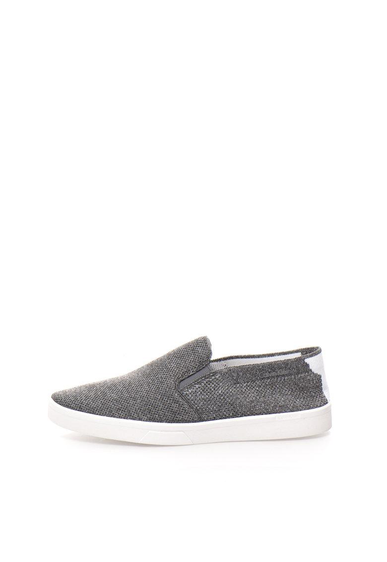 Calvin Klein Pantofi slip-on gri melange Ives