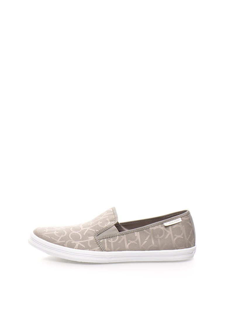Calvin Klein Pantofi slip-on gri cu model logo Oreste