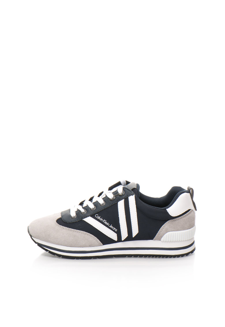 Calvin Klein Jeans Pantofi sport bleumarin cu gri cenusa Evert Soft