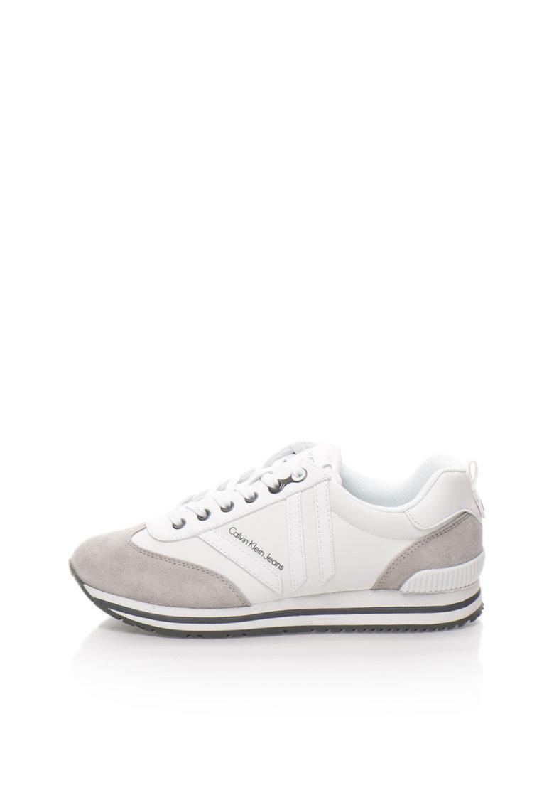 Calvin Klein Jeans Pantofi sport alb cu gri Evert