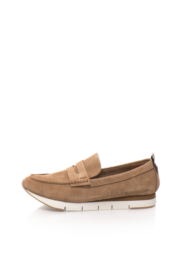 Calvin Klein Jeans Pantofi loafer maro de piele intoarsa Haben