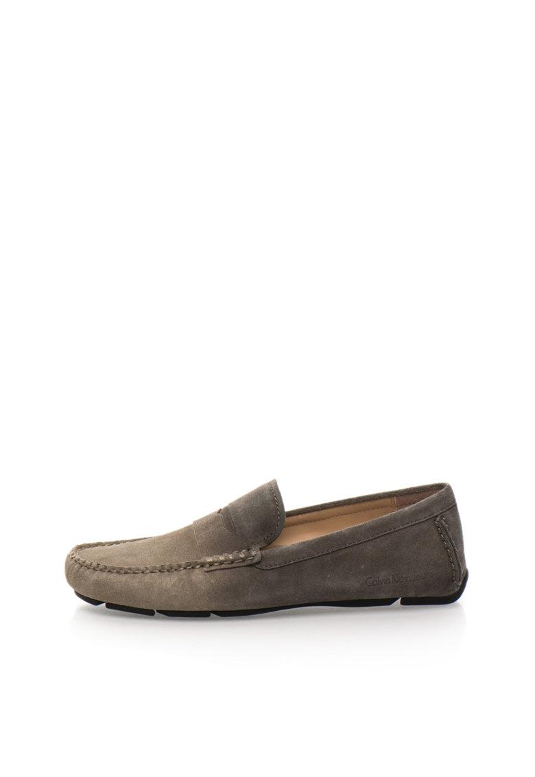 Calvin Klein Jeans Pantofi loafer gri inchis in degrade Paz