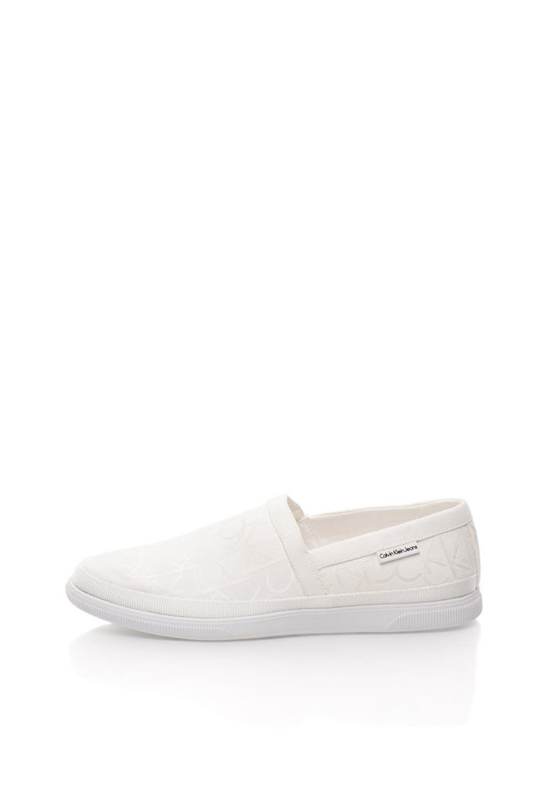 Calvin Klein Jeans Pantofi slip-on albi cu model logo Ulf