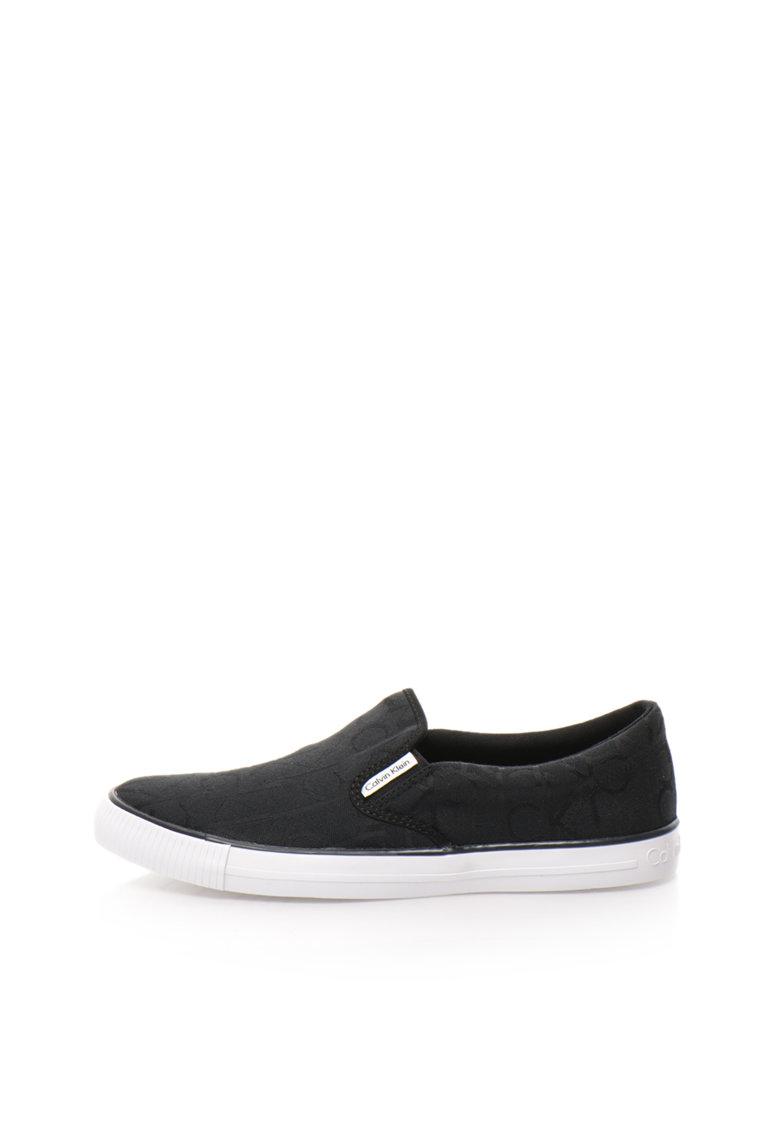Calvin Klein Jeans Pantofi slip-on negri Acton