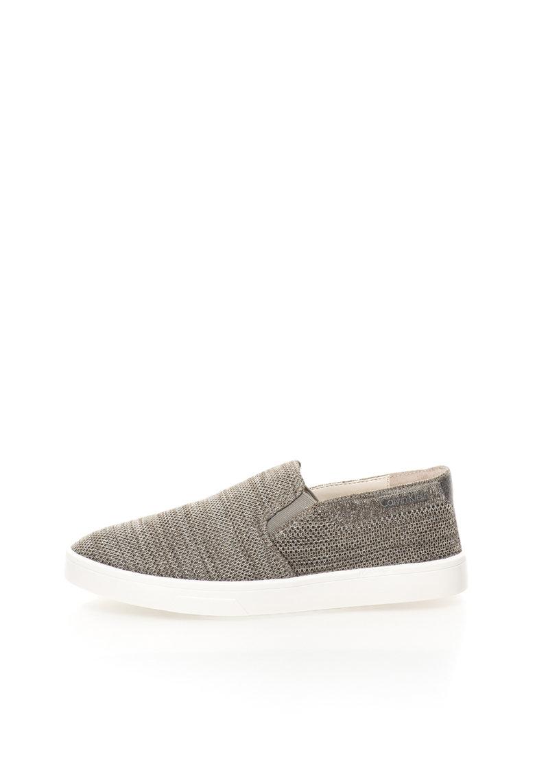 Calvin Klein Pantofi slip-on gri melange Inca