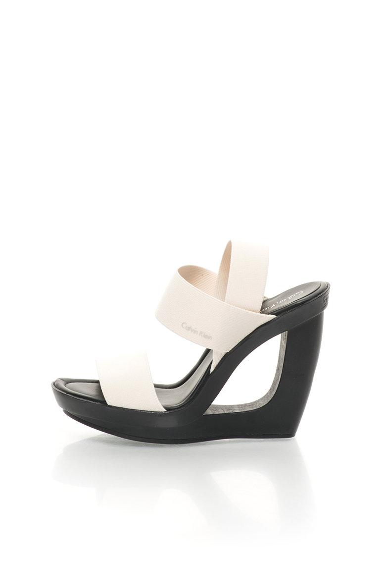 Calvin Klein Sandale alb prafuit cu platforma Yelena