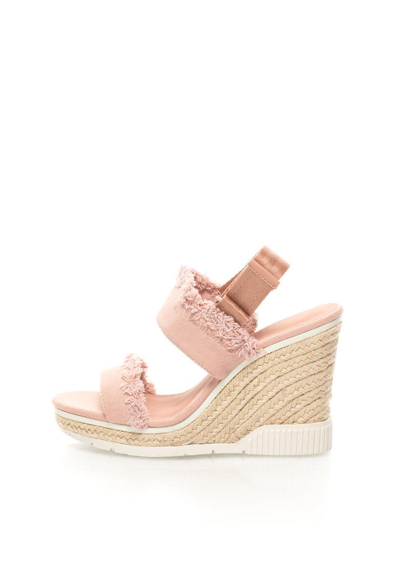 Calvin Klein Jeans Sandale wedge roz prafuit de panza Lael