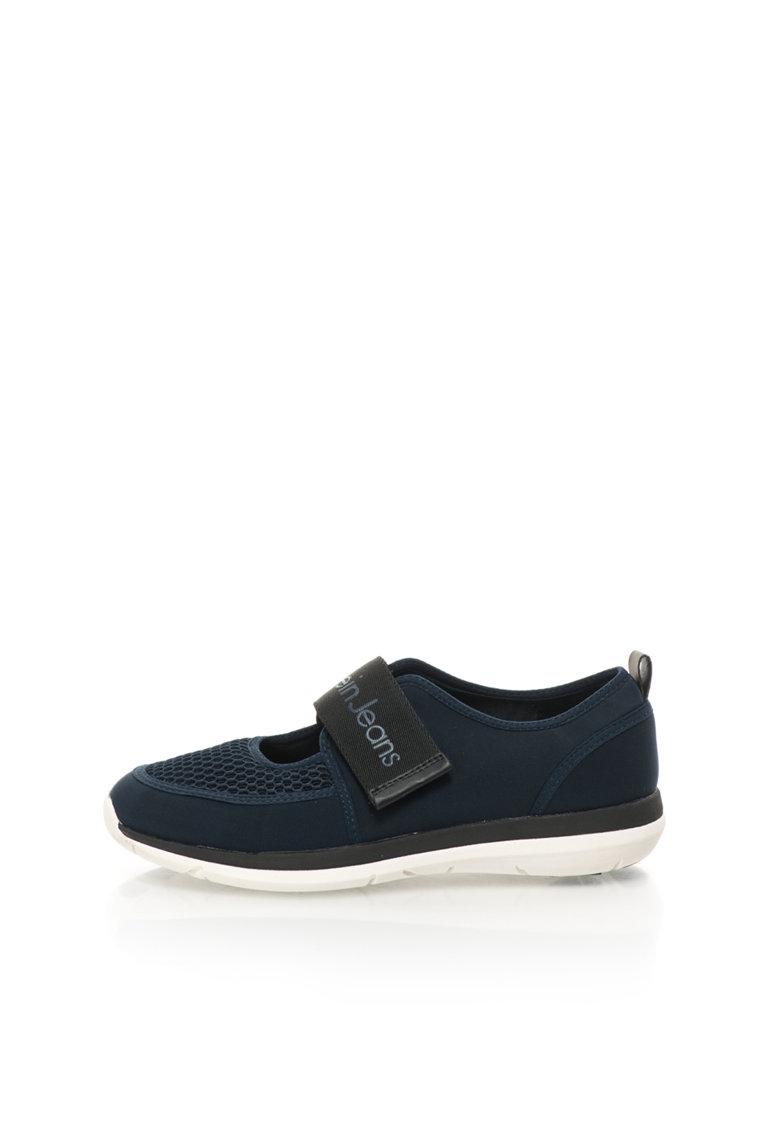 Pantofi sport Mary Jane bleumarin de neopren Idalis de la Calvin Klein Jeans