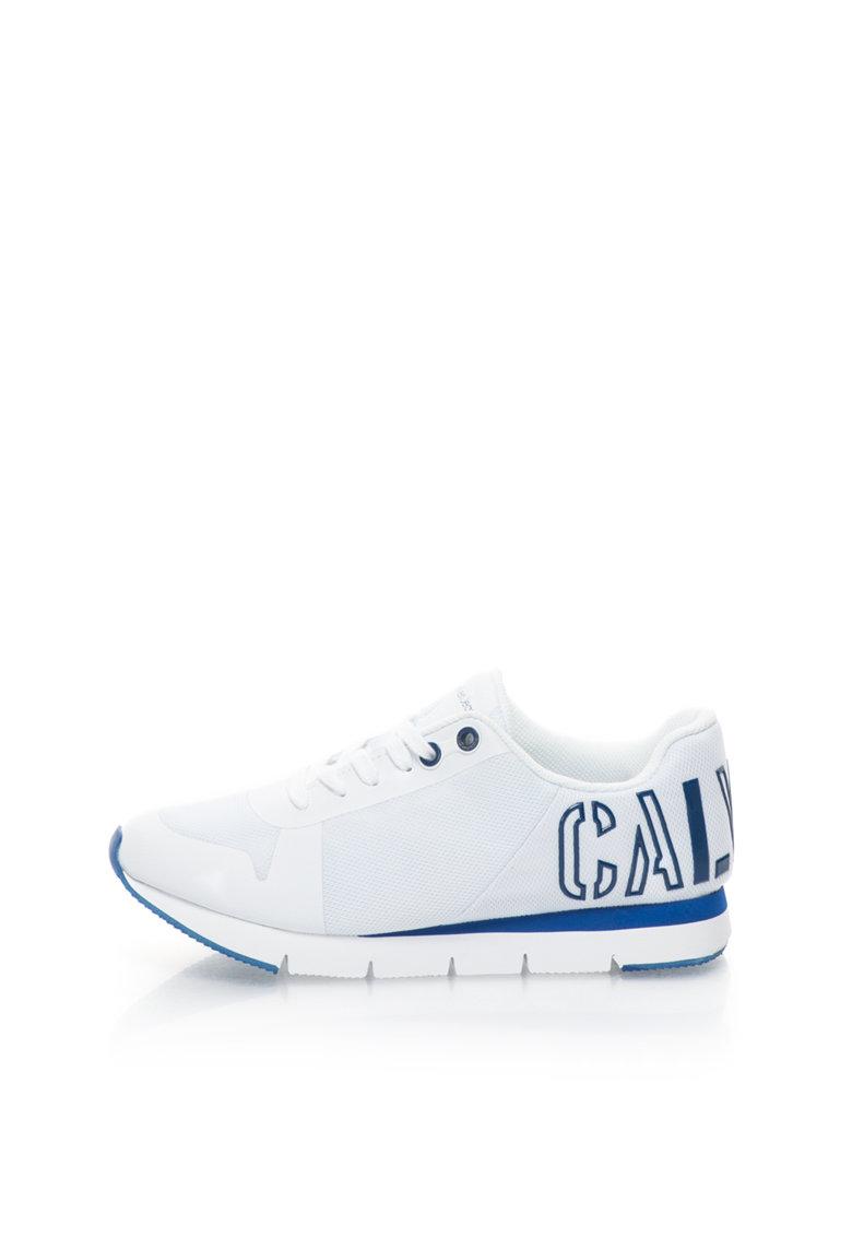 Calvin Klein Jeans Pantofi sport alb si albastru cu logo Taja