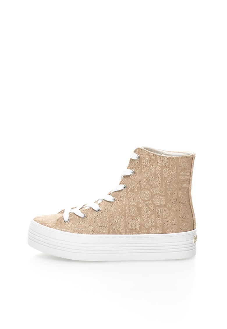 Calvin Klein Jeans Pantofi sport inalti flatform aurii Zabrina