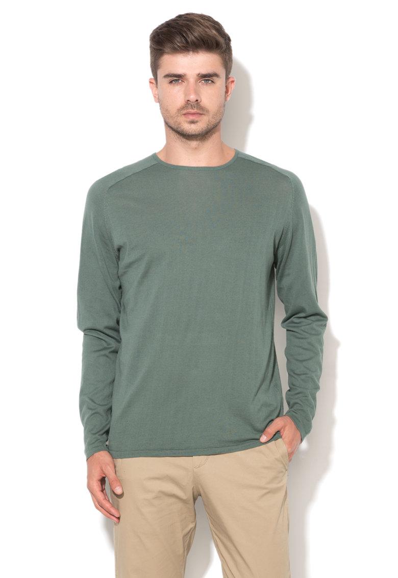 JackJones Bluza verde marin tricotata fin