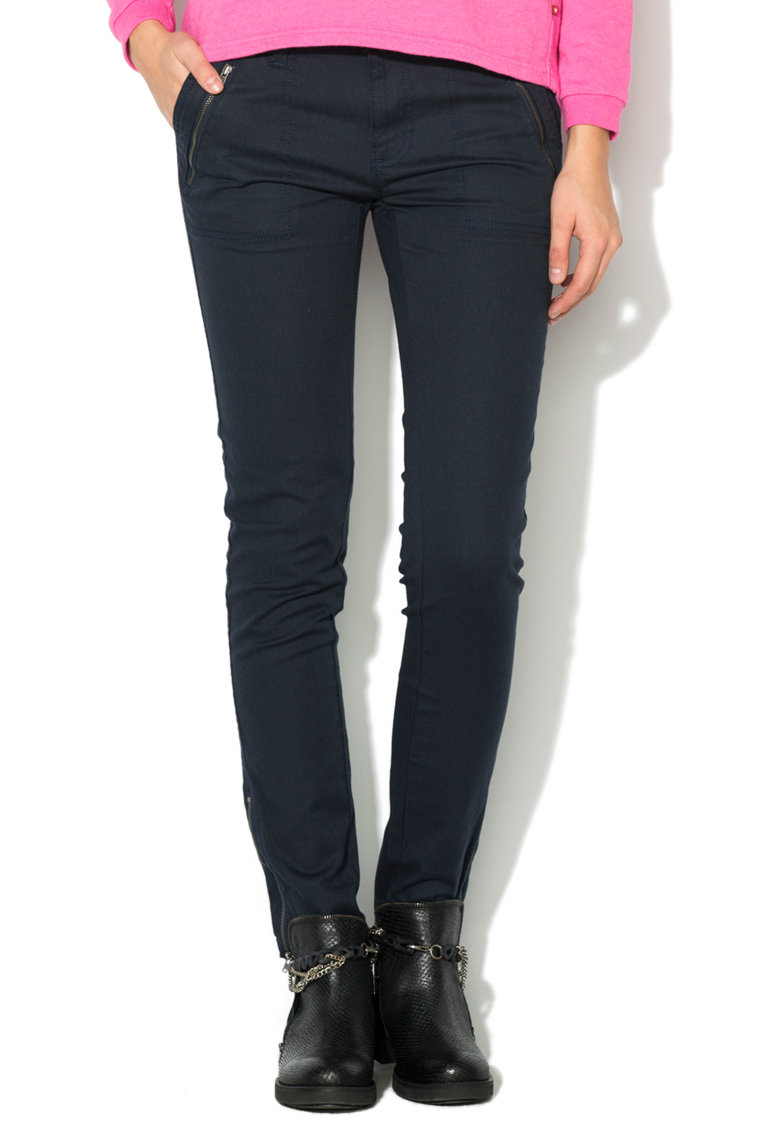 Pantaloni conici slim fit bleumarin Slavia de la Big Star