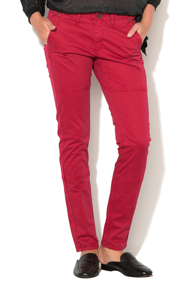 Big Star Pantaloni conici roz zmeuriu Kirsten