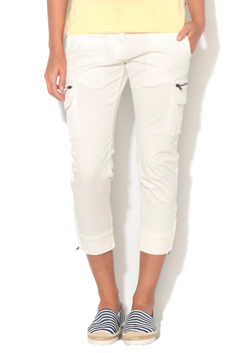 Big Star Pantaloni capri albi Tamara
