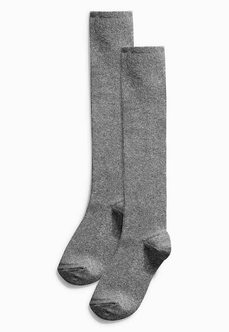 Set de sosete gri peste genunchi  – 2 perechi de la NEXT