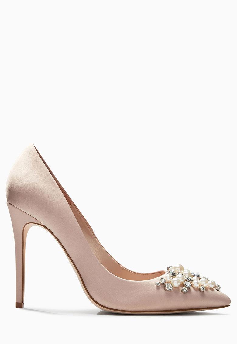 NEXT Pantofi stiletto roz pal cu decoratiuni