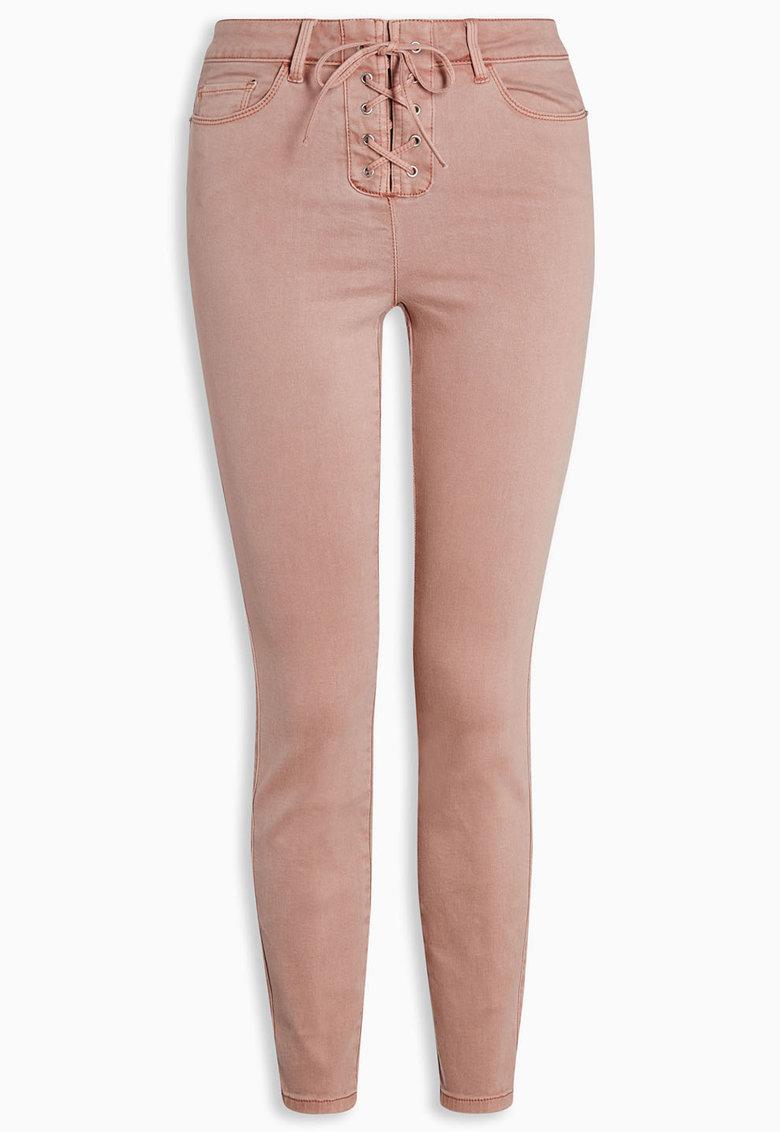 NEXT Pantaloni slim fit roz prafuit