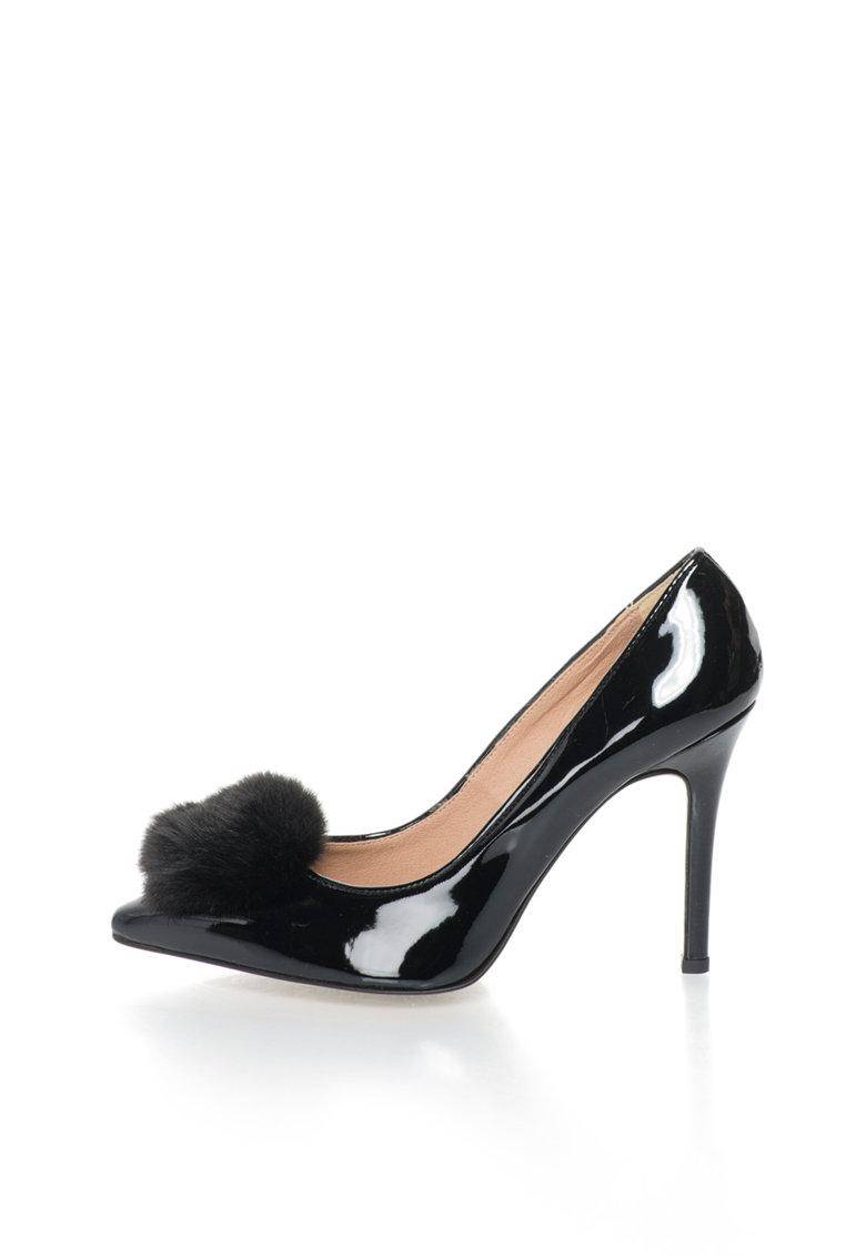 Versace 1969 Abbigliamento Sportivo Pantofi negri lacuiti cu varf ascutit Maeva