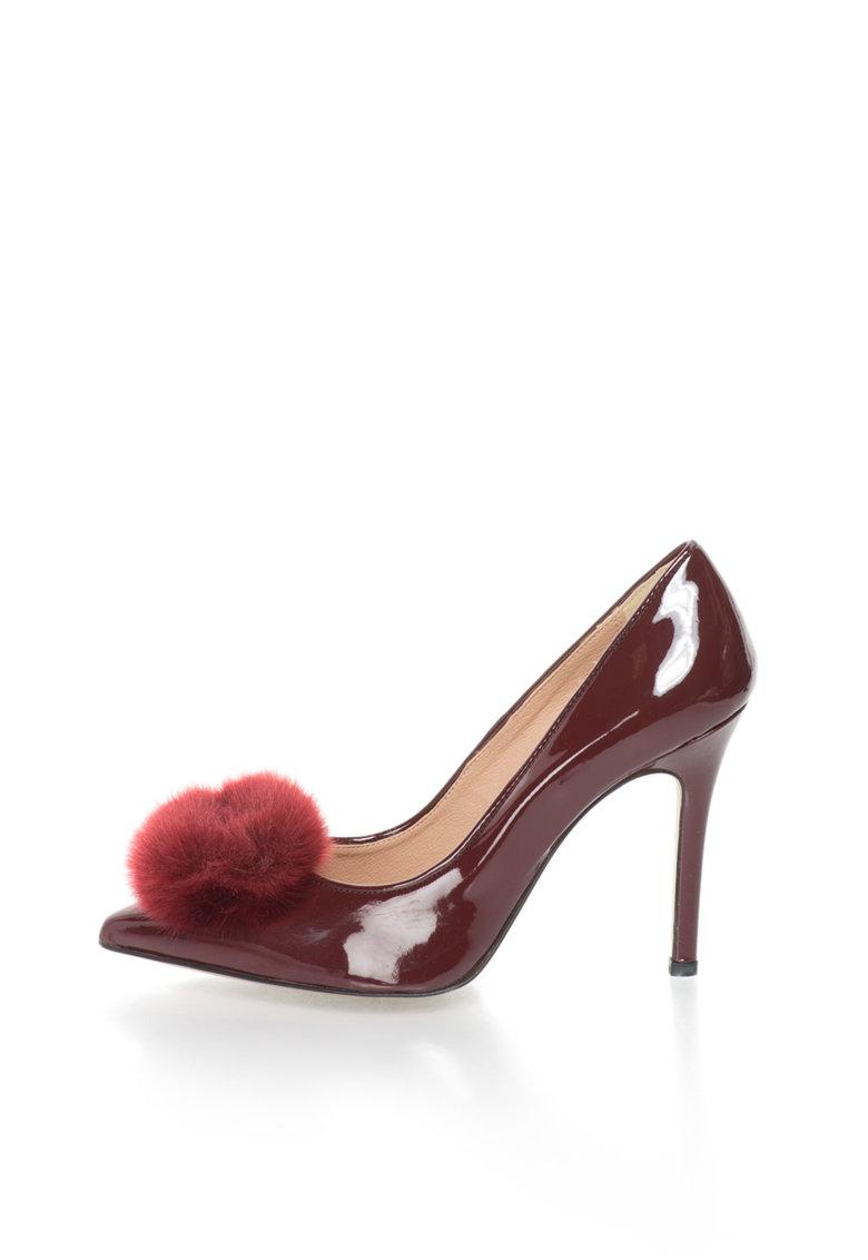 Versace 1969 Abbigliamento Sportivo Pantofi rosu Bordeaux lacuiti cu varf ascutit Maeva