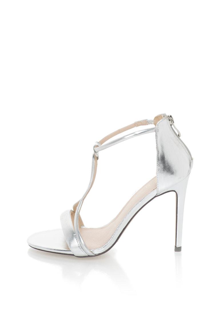 Versace 1969 Abbigliamento Sportivo Sandale stiletto argintii Odette