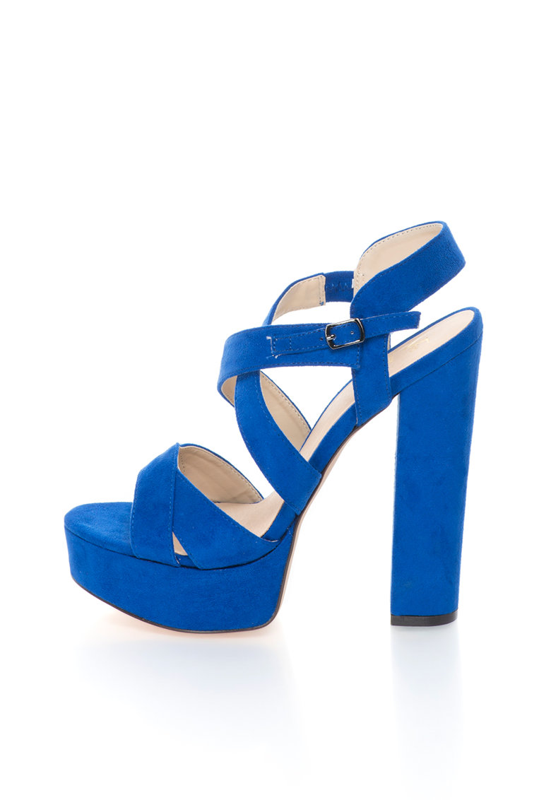Versace 1969 Abbigliamento Sportivo Sandale albastru safir de piele intoarsa sintetica Desiree