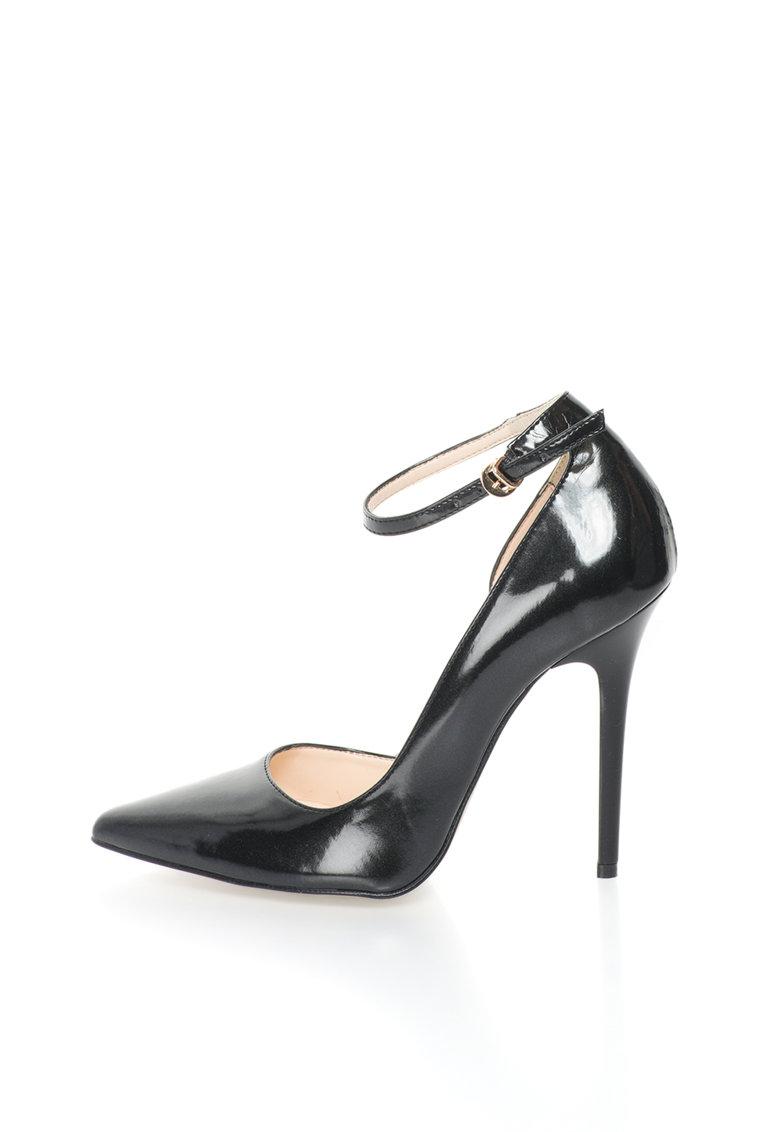 Versace 1969 Abbigliamento Sportivo Pantofi stiletto negri cu bareta pe glezna Evelyne