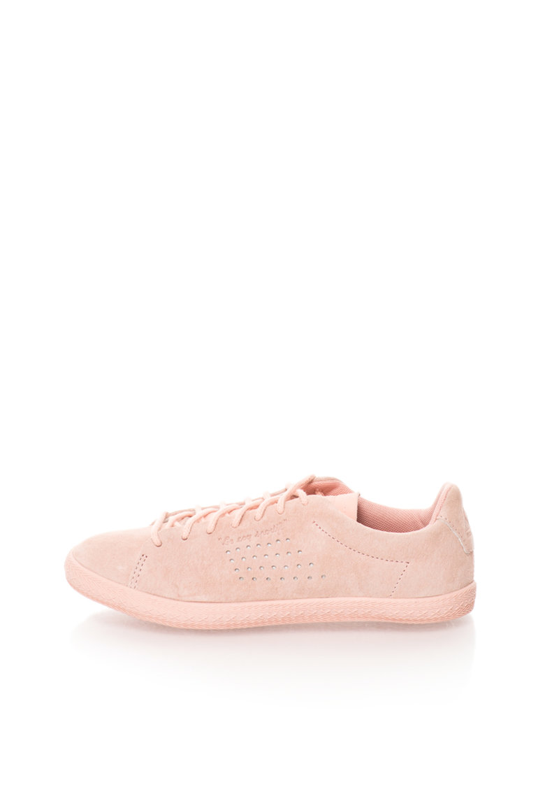 Le Coq Sportif Pantofi sport roz prafuit cu roz pastel de piele Charline PS
