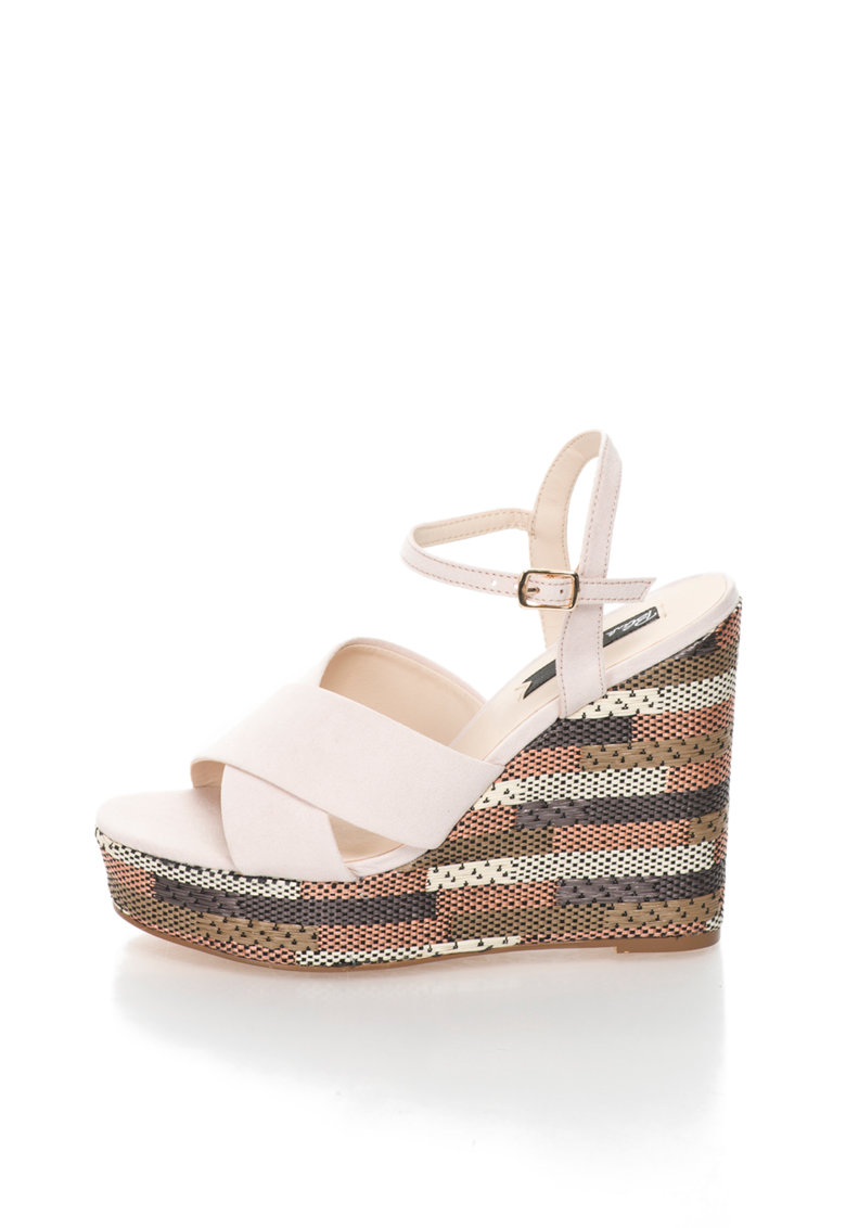 Blink Sandale wedge cu model geometric