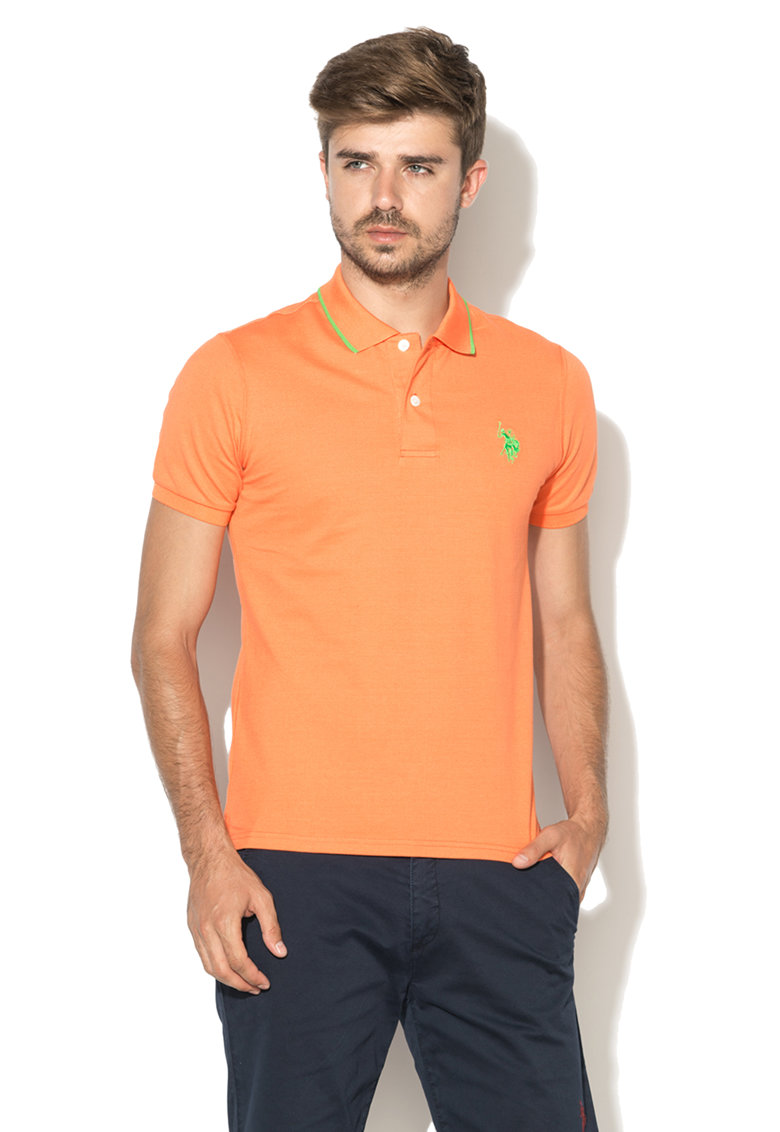US Polo Assn Tricou polo oranj Performance