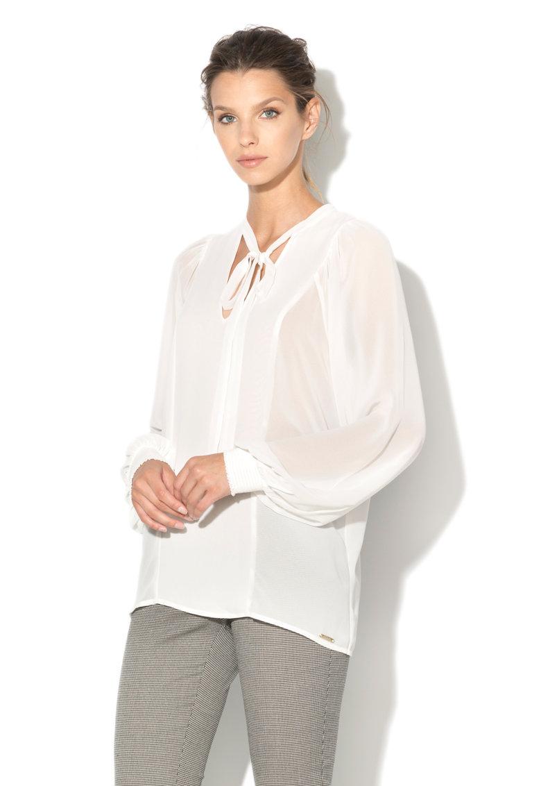 GUESS JEANS Bluza transparenta cu funda din panglici