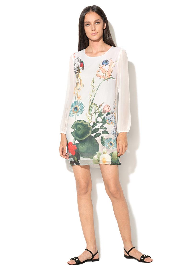 Yumi Rochie din sifon cu imprimeu floral