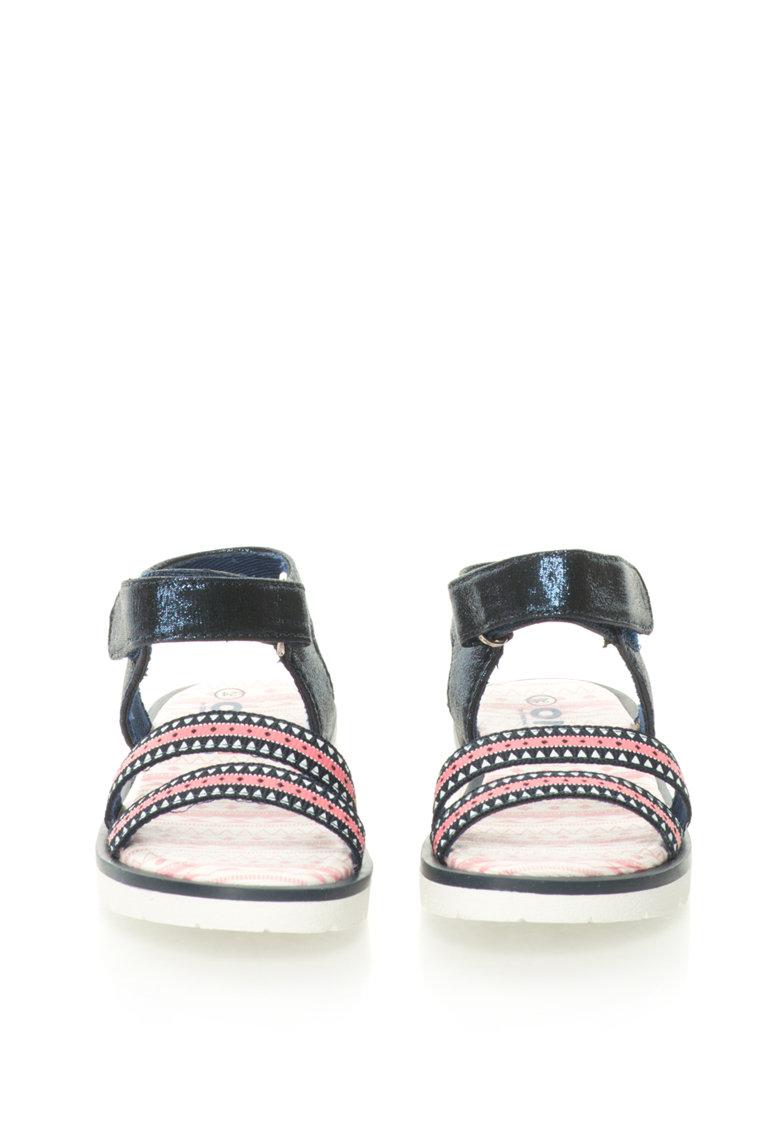 OMS by Original Marines Sandale cu detalii stralucitoare si imprimeu etnic