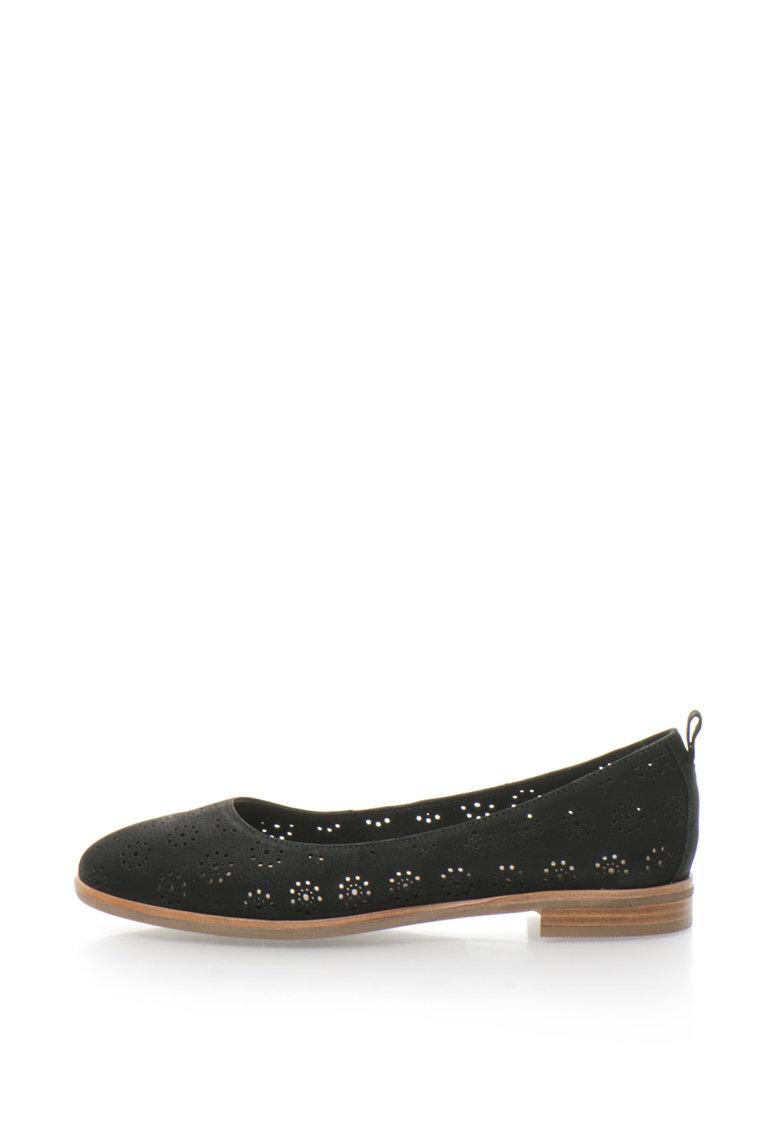 Clarks Pantofi de piele nabuc cu decupaje Alania Rosa