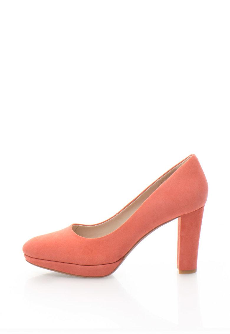 Clarks Pantofi de piele intoarsa Kendra Sienna