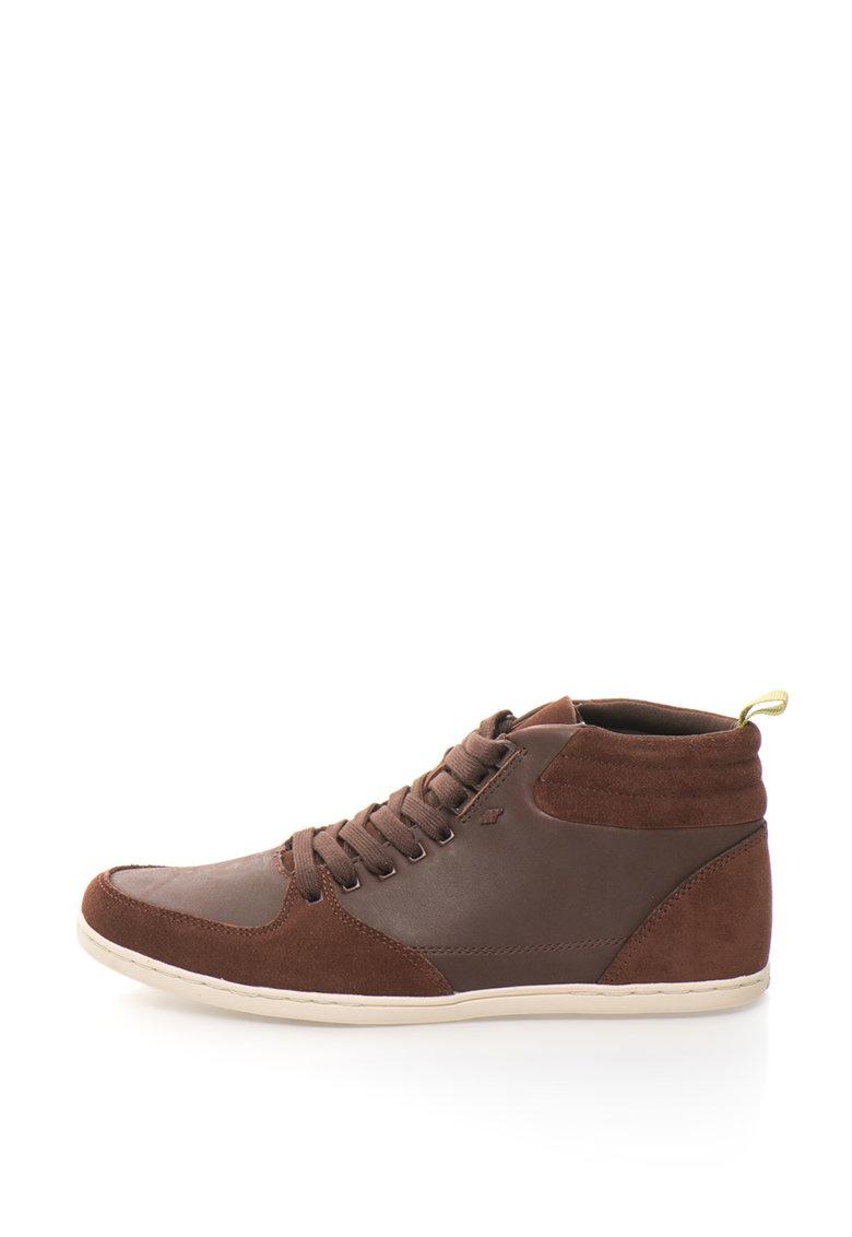 Boxfresh Pantofi sport mid-high de piele intoarsa si piele Eplett