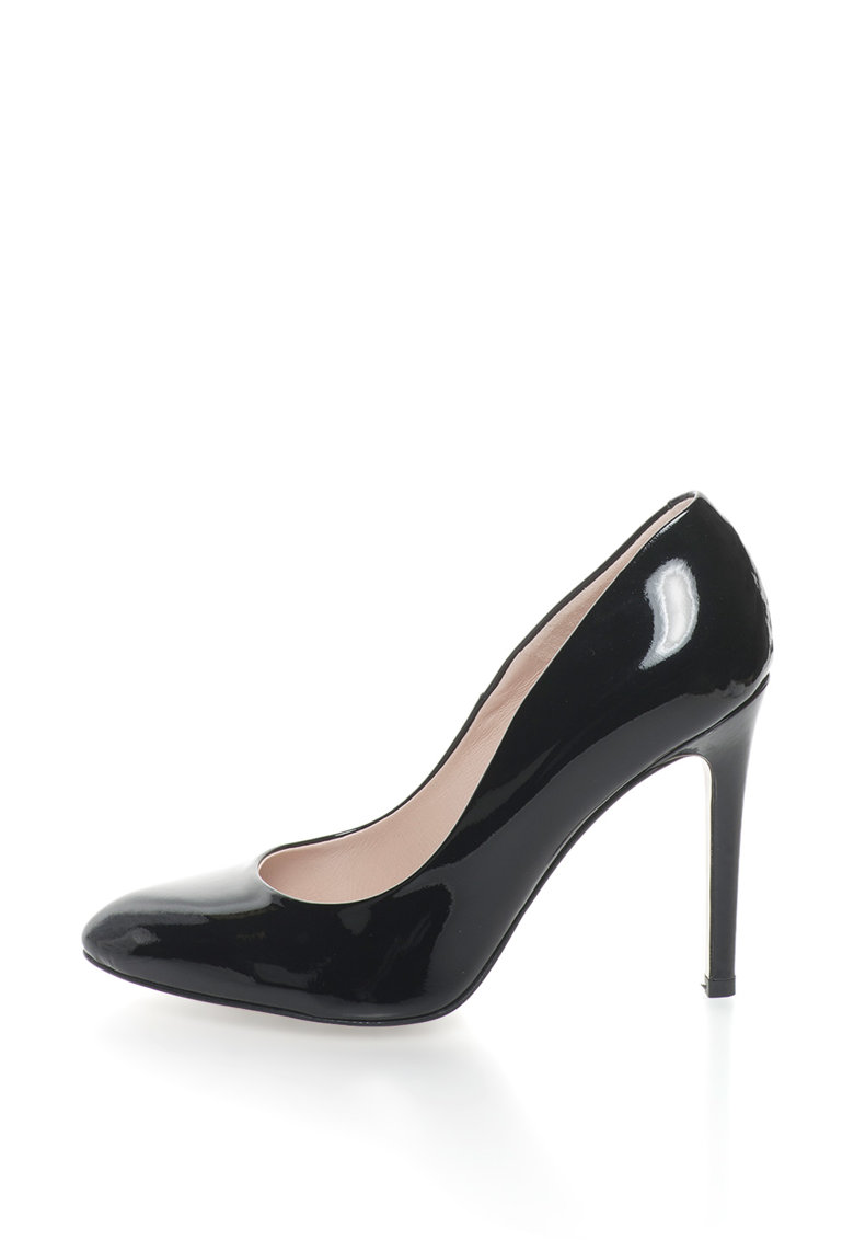 Pantofi de piele lacuita cu toc cui