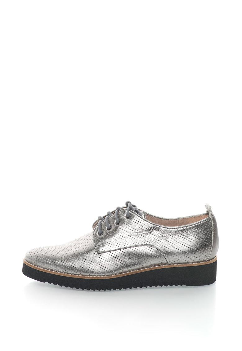 Gino Rossi Pantofi de piele cu perforatii Pia