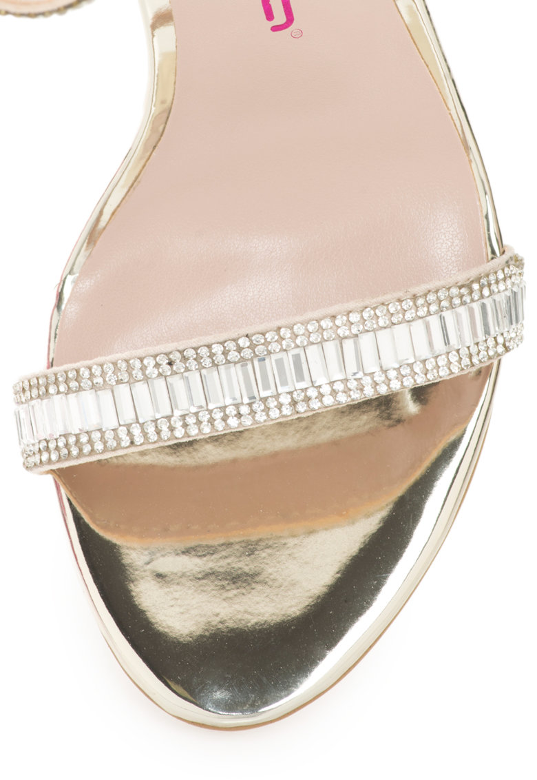 Sandale cu bareta pe glezna si strasuri Gloria