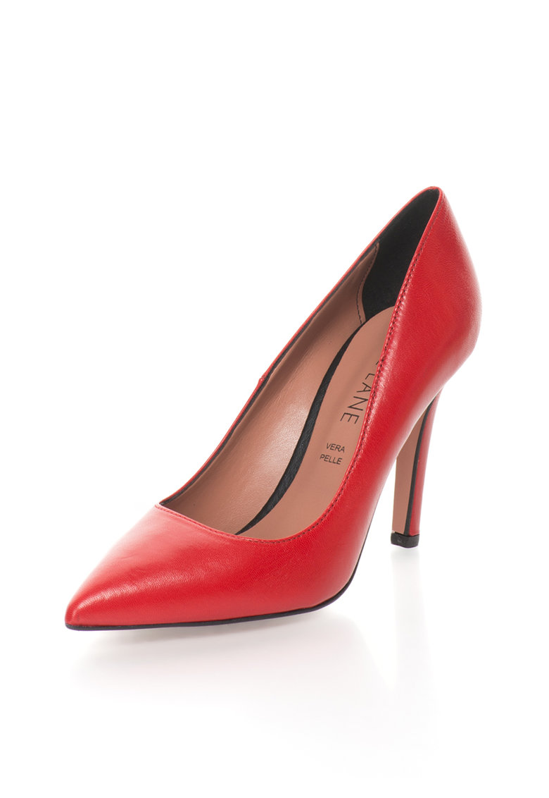 Pantofi stiletto de piele cu varf ascutit Anne