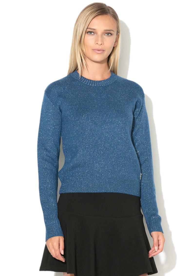 Love Moschino Pulover tricotat fin cu insertii din lurex