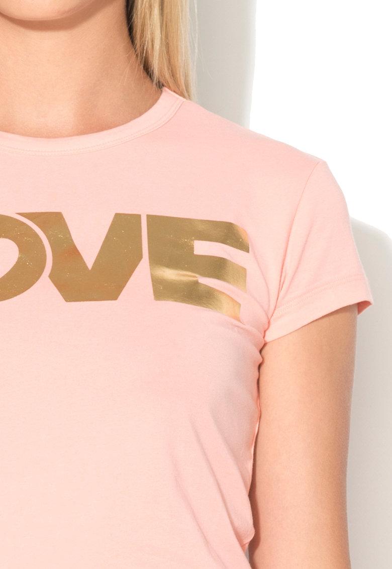 Love Moschino Tricou cu imprimeu cauciucat