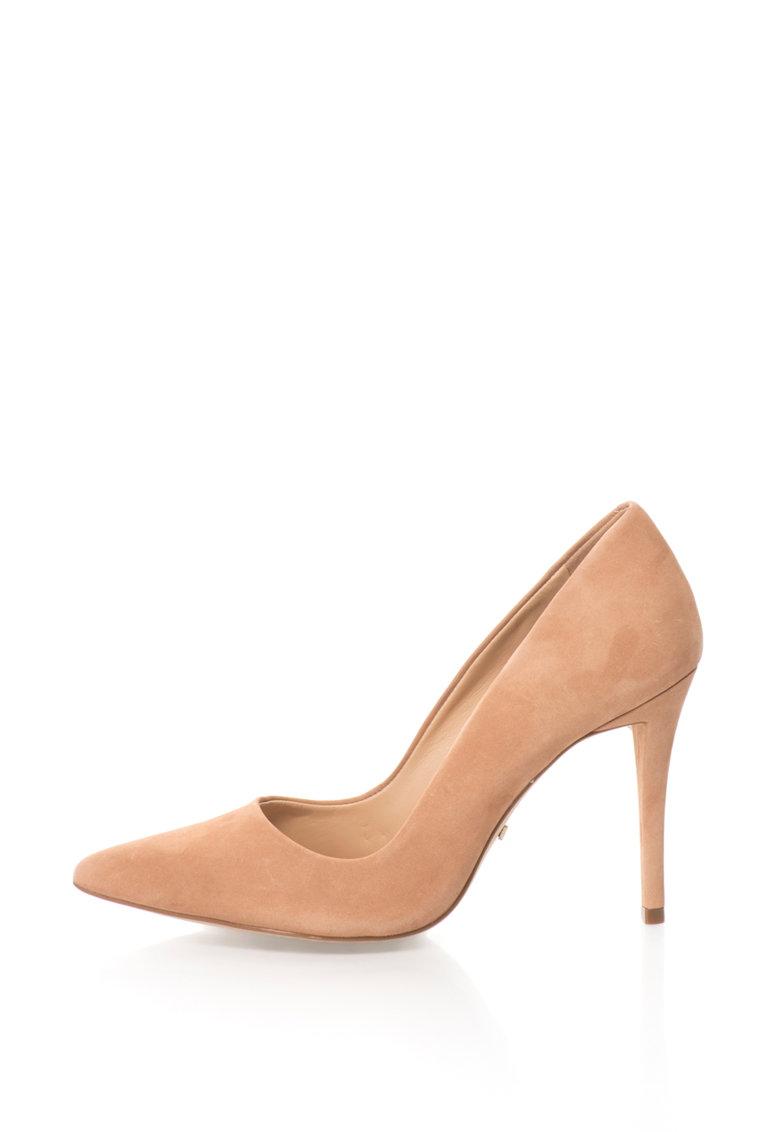 Arezzo Pantofi de piele nabuc cu toc inalt