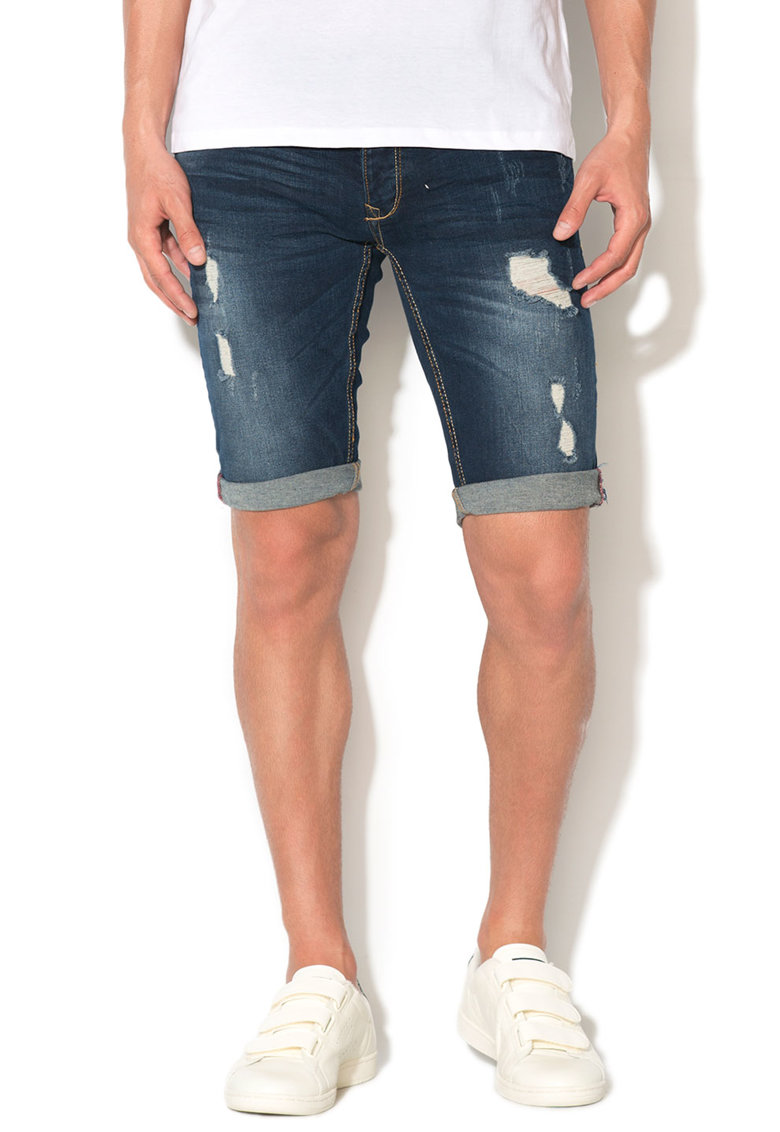 Alcott Bermude regular fit din denim cu aspect deteriorat